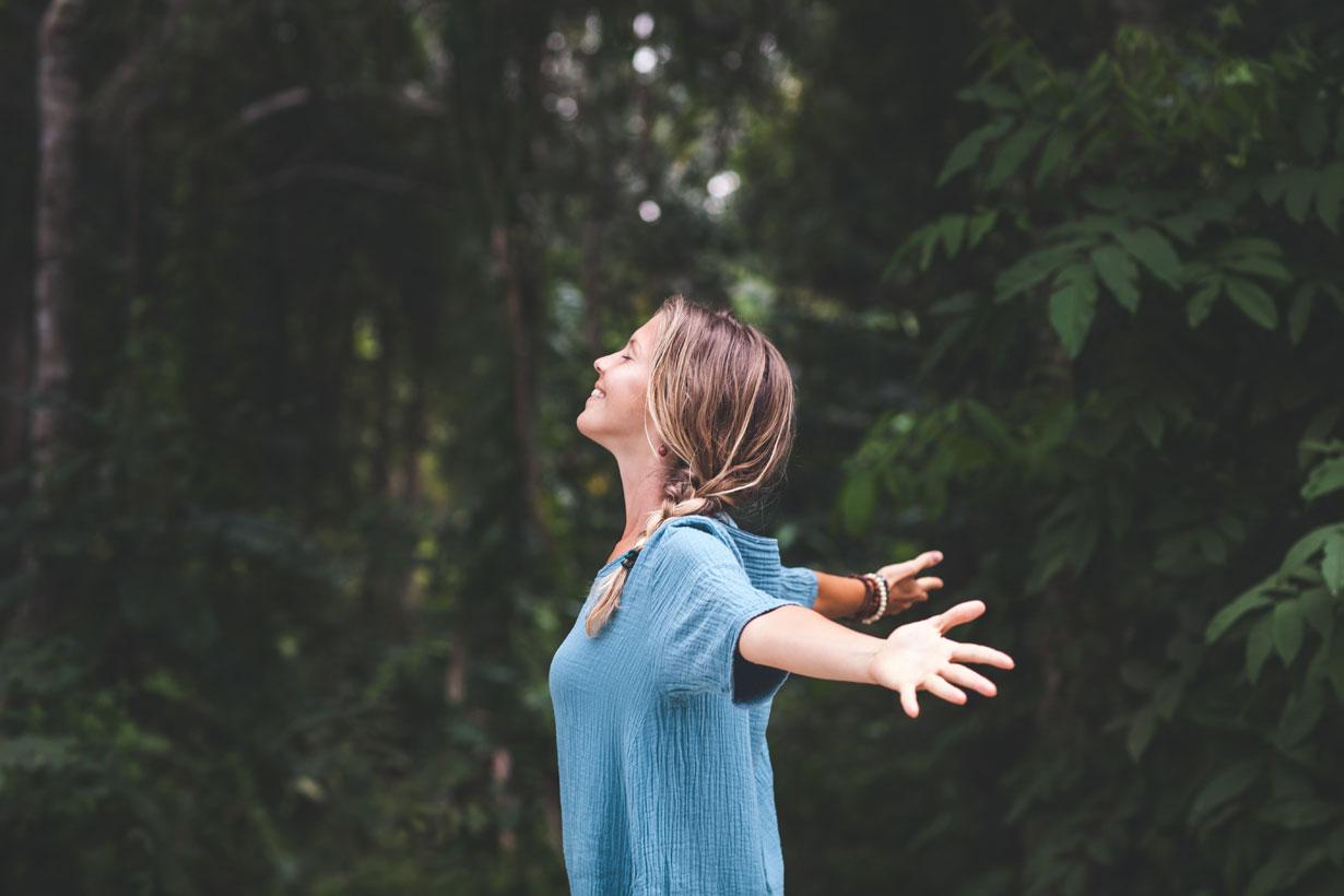 Woman enjoying the outdoors