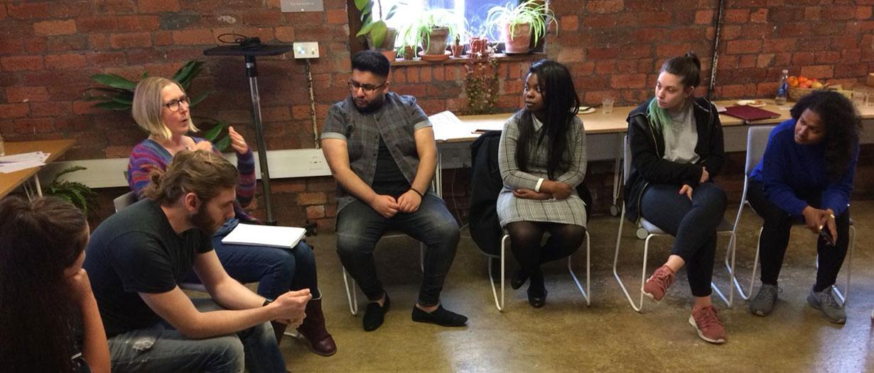 Youth advisory group talking